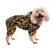 Pets Dog Raincoat Camouflage Jumpsuit Pet Dog Clothes Puppy Hoodie Rain Coat Small Middle Dogs Pet Jacket Size S/M/L/XL 1pcs(China)