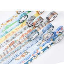 China's '24 Solar Terms Creative Floral Fashion Washi Tapes 15mm*7M Decoration Masking Tape Set 24pcs/lot Free Shipping