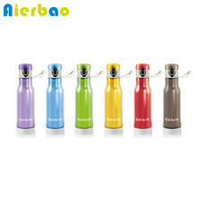 450ml Fashion Sports Water Bottle Double Wall Plastic BPA Free Water Bottle Portable Flip Top Lid Water Bottle(China)