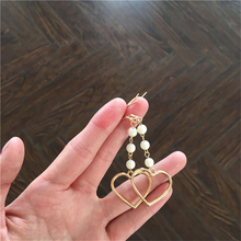 Lovely girl heart lovely hair bulb pearl earring no ear pierced ear women adorn article Popular fur ball Soft(China)