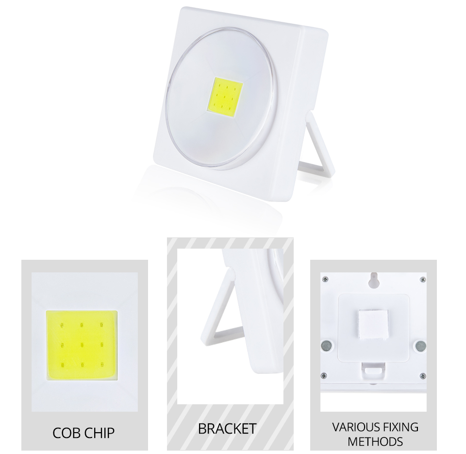 LED Desk Light Battery Powered Magnets COB With Switch Reading Book Lights _ (5)