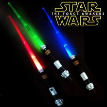 76cm 3 colors Star Wars lightsaber Awakens LED Scalable Cosplay  Props action toys Children Christmas Gifts Party Game