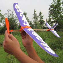 10PCS DIY Assembly Updated Rubber Power Glider Airplane Model Toys For Kids Gifts