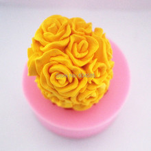 Ball Rose S0245 Silicone Candle molds Soap mold Craft Molds DIY