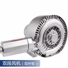 XGB-420 1.5KW High Pressure Vacuum Swirling Vortex Blower 150M3/H Big Capacity Double Impeller Air Blower