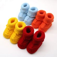 Handmade Newborn Baby Infant Boys Girls Crochet Knit Booties Casual Crib Shoes Y56(China)