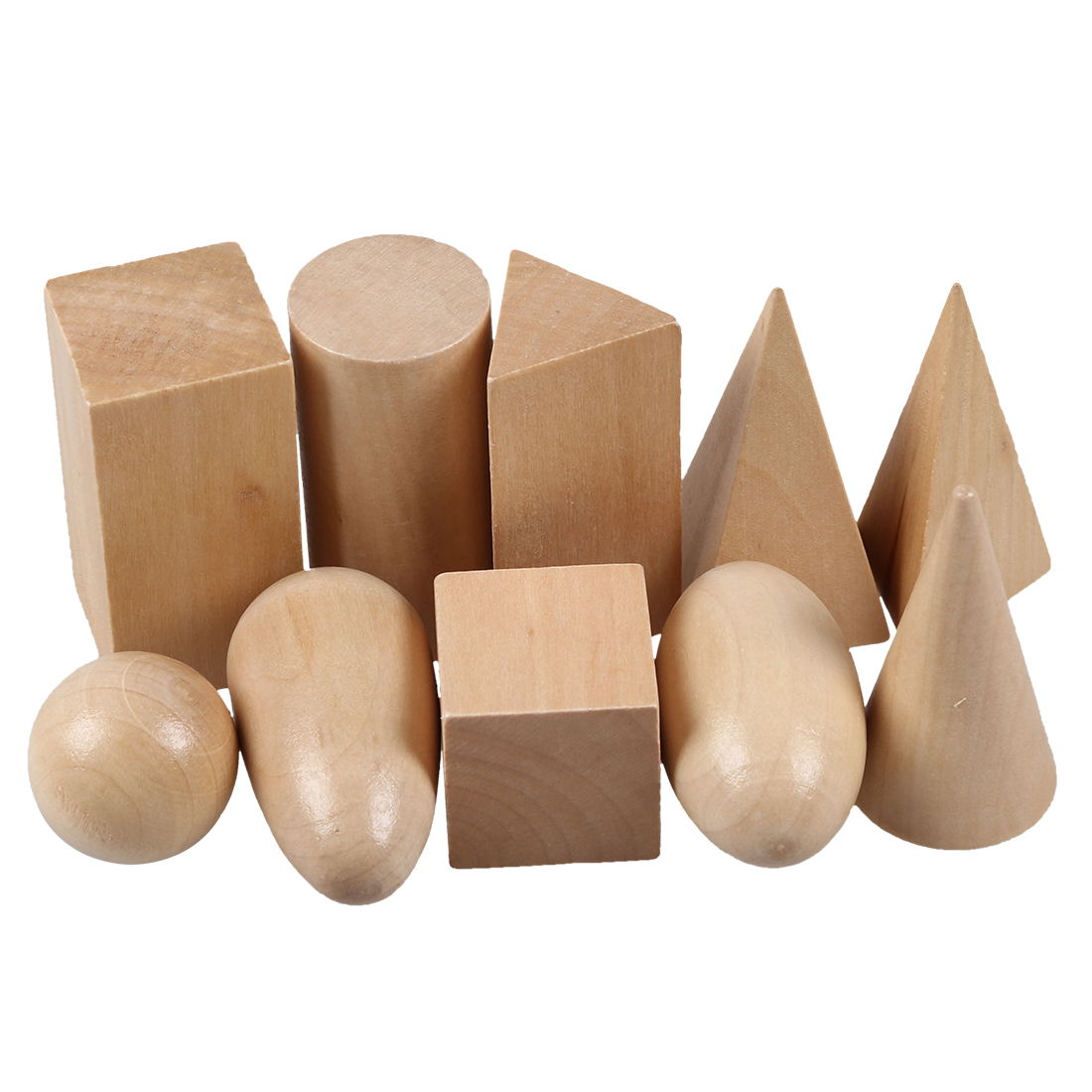 5 pack Wooden Montessori Mystery Bag Geometry Blocks Set Educational Cognitive Toys<br>
