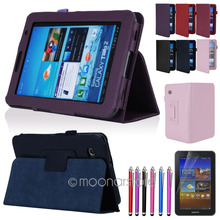 "Folio PU Leather Case Cover Stand For Samsung Galaxy Tab 2 7.0\"" 7\\\"" Tablet P3100 Free Shipping CA0022"