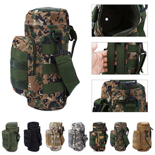 camouflage military molle tactical travel water bottle bays outlook kettle carrier holder hiking bicycle camping sport water bag(China)