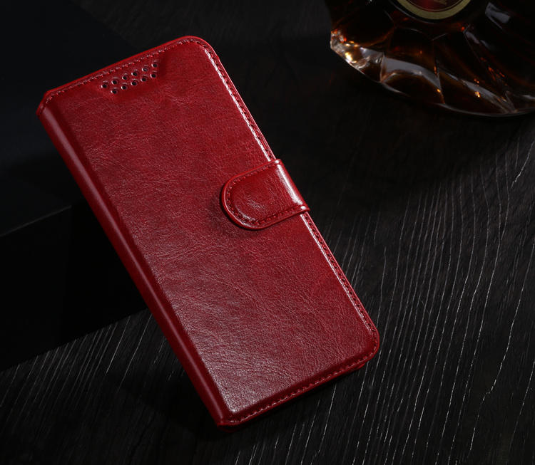 Case Design Holster Flip Crazy-Horse PU Leather Cover
