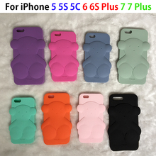 Bear case For iPhone 6 6s 6s plus 5 5S SE 7 7PLUS 7 PLUS 3D Cute Bear Cartoon Soft Rubber TPU Silicone Phone Case Cover fundas