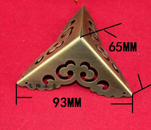 65MM brass side copper clad Chinese furniture of Ming and Qing angle clouds pattern corners protection Corner(China)