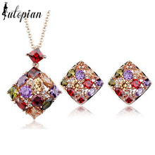 Iutopian Brand Luxurious Queen Jewelry Set With Austrian Crystal Stellux Zirconia Top Quality Party Jewelry #RA025S