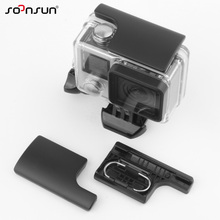 SOONSUN Plastic GoPro Snap Latch Go Pro Backdoor Clip Lock Buckle for GoPro Hero 3+ 4 Camera Waterproof Housing Case(China)