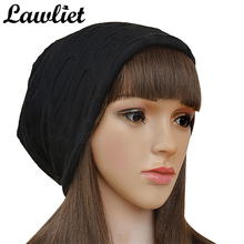 Warm Beanie Women Hats Winter Autumn Knitting Hat Rayon Solid Skullies Hip Hop Caps Stocking Casual Ladies  Hats A247
