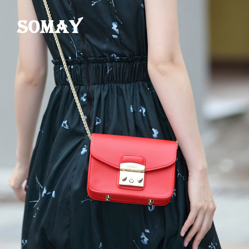 A0801 SOMAY women Bag HOT SALE Women Messenger lady crossbody Bags Fashion Mini Bag Women Shoulder Bags drop