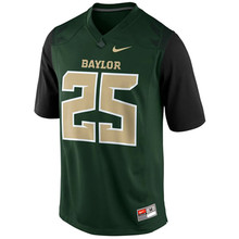 Nike Baylor Bears Lache Seastrunk 25 College Ice Hockey Jerseys - Green Size M,L,XL,2XL,3XL 2013(China)