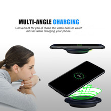 mokingtop Ultrathin portable 5V 1000mA Qi Wireless Charging Charger Pad For Samsung Galaxy S8 / S8 Plus Smartphone(China)