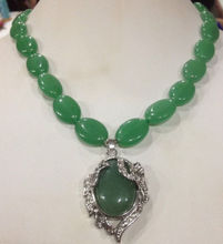 free shipping  1817 Stunning pretty natural green  beads necklace 18""