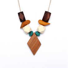 Timeless Wonder new simple geo wood charms pendant Necklace Women Jewelry party choker bijoux trendy office prom date club 1458