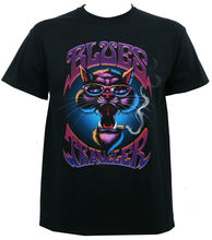 Gildan Authentic BLUES TRAVELER Band Smokin' Cat T-Shirt S M L XL 2XL NEW men's t-shirt