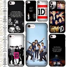 One Direction hot best design Black Scrub Case Cover Shell for iPhone Apple 4 4s 5 5s SE 5c 6 6s 7 Plus(China)