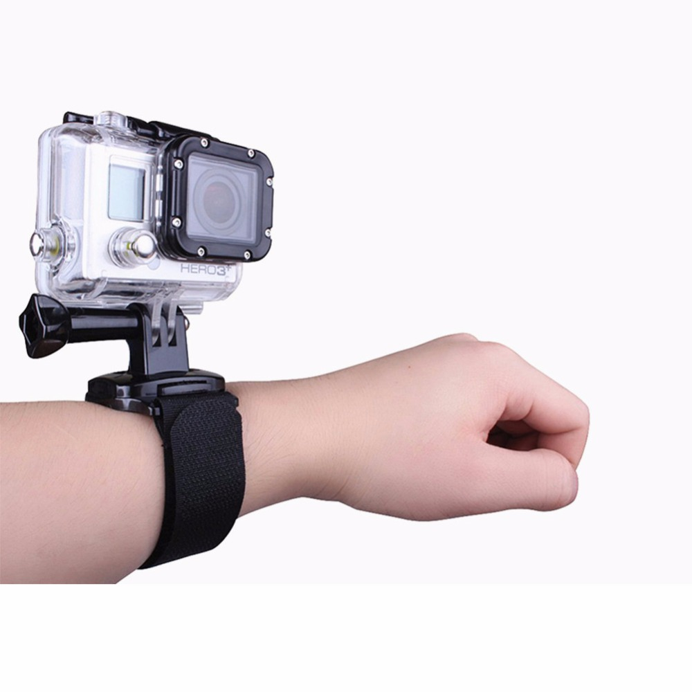 360 Degree WristBand For SJCAM 5000 for GoPro three Way mount