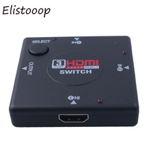 Elistooop 2018 Mini 3 Port HDMIv1.3 Port HDMI Switch Switcher Full HD 1080P Vedio Splitter Amplifier for Xbox 360 DVD PS3(China)