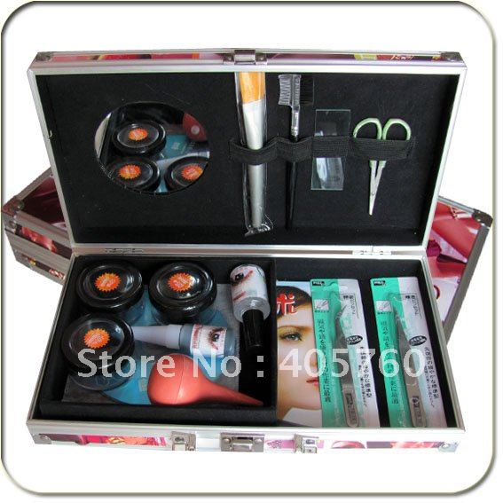 Professional Hight Quality False Eyelash Eye Lash Extension Glue Kit Full Set With Case Eye Beauty  Tool Free Shipping<br>