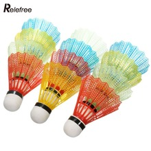 12pcs Portable Colorful Badminton Balls Shuttlecocks Sport Products Training Train Supplies High Quality