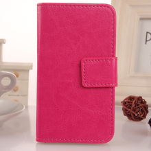 LINGWUZHE Plain PU Leather Cell Phone Case With Card Slot Flip Cover For Digma First XS350 2G