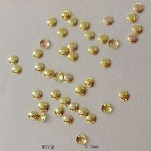 1 Pack About 100psc New Nail Semicircle Rivets 2mm Gold and Silver Nail Sticker 3D Nail Art Suppliers Glue and paste Tools M37(China)