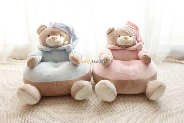 Fancytrader 1 pc Big Lovely Stuffed Soft Plush Bear Sofa Tatami Bears Chair Cushion for Kids Free Shipping<br><br>Aliexpress