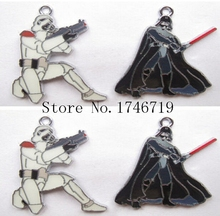 Hot Sale 10pcs Star Wars  Metal Charms DIY Jewelry Making  Mobile Phone Accessories For Best Gift D-144