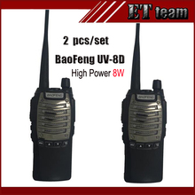 2 pcs/set BAOFENG UV-8D 8W handheld FM Transceiver Two Way radio UV 8D Ham Two-Way single Band Walkie Talkie 400-480MHz radio