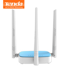 Tenda N315 300Mbps Wireless WiFi Router Wi-Fi Repeater,3x Speed Antenna,Powerful Broadcom Chip,1WAN+3LAN Ports, English Firmware