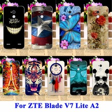 AKABEILA DIY Flexible Soft TPU Silicon Cell Phone Cases For ZTE Blade V7 Lite Covers A2 Bags Skin Shell Protector Shield Cases(China)