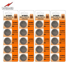 20pcs/4pack New Wama CR2430 3V Button Cell DL2430 KECR2430 ECR2430 L20 Lithium Computer MotherBoard Car Remote Coin Battery