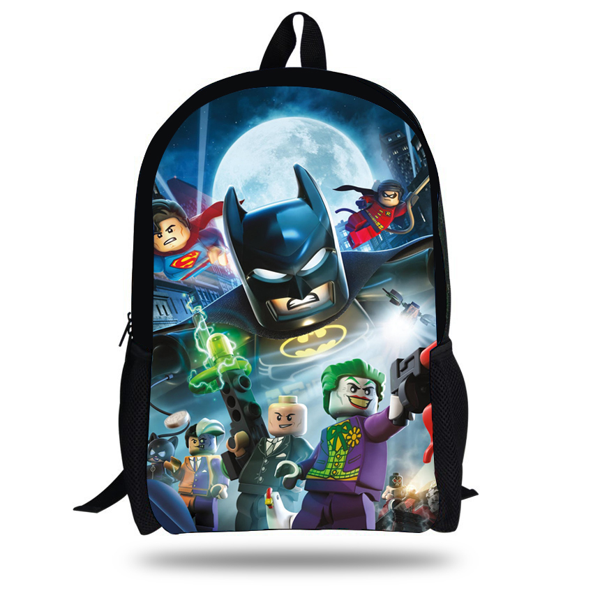 16inch Mochila Batman Bags For School Boys Batman Backpack Cool Kids School Bags For Teenagers Children Backpacks Girls Ninjago(China (Mainland))