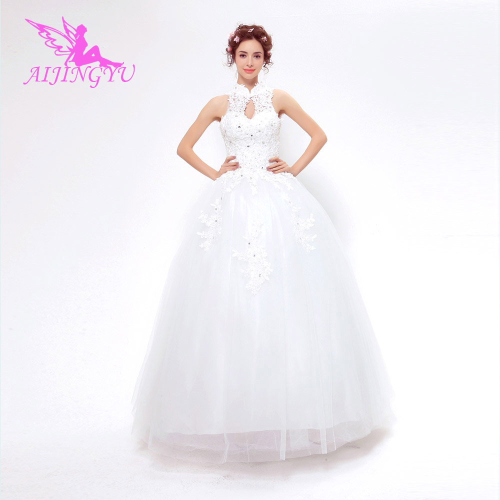 AIJINGYU 2018 new free shipping china bridal gowns cheap simple wedding dress sexy women girl wedding dresses gown TS146