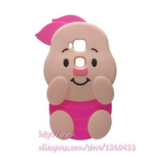 Soft Silicone Phone Cover Case For Huawei Ascend G8 / G7 Plus / Maimang 4 D199 3D Cute Cartoon Rose Red Big Ears Pig