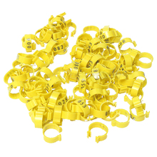 100Pcs 001-100 Numbered Leg Bands 18mm Rings for Clip On Poultry Hens Chicken(China)