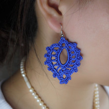 Handmade Crochet Wedding Earring Romantic Leaves Beach wedding Bride Bridesmaid decorative ornament(China)