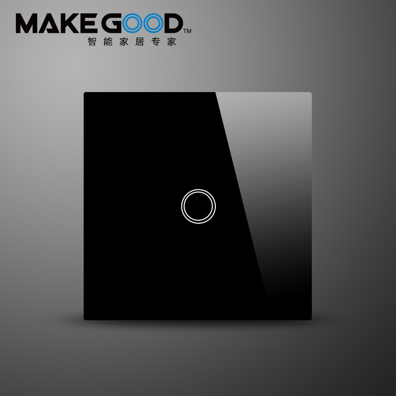 MakeGoodTouch Switch 1 Gang 1 Way,Wall Light Touch Screen Switch,Crystal Glass Switch Panel<br>
