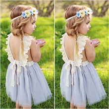 Girls Baby Sleeveless Backless Fancy Party Tutu Dresses Flower Girl Clothing Princess Sequins Dress Toddler