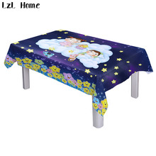 LzL Home ready made cartoon style fairy tale world tablecloths rectangular waterproof polyester 3d printed spandex table cloth(China)