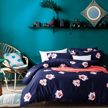 Floral Print European Pastoral Bedding set Queen/King Size Luxury Tribute silky Wedding Bed set Duvet Cover  Bedsheet set Pillow