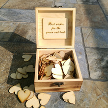 Personalised Wedding Guest book ,Custom Rustic Drop top Drop box wedding alternative GuestBook with Hearts, Wedding decoration