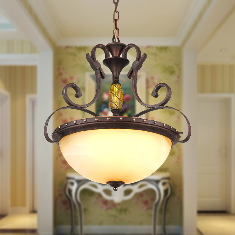 American retro antique bedroom balcony ceiling light study aisle hotel project lighting iron ceiling lamp<br><br>Aliexpress