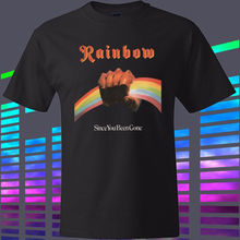 FL&AEVVE Rainbow *Since You Been Gone Rock Band Legend Men's Black t-shirt Size S to 3XL men's t-shirt(China)